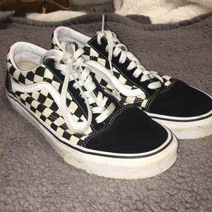 Old school Checkered vans!!